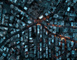 Urban landscape by dawn