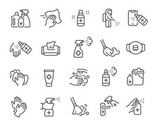 Disinfection And Cleaning Icon...