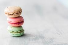 Stack Of Colorful Macaroon Cookies
