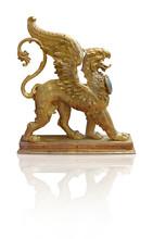 Golden Decorative Elements In ...