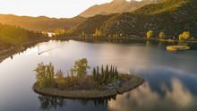 Aerial View Of Bacina Lakes Near Ploce, Dalmatia, Croatia.