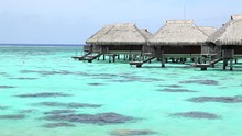 Over-water Thatched-roof Bunga...