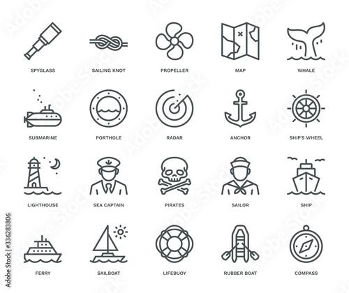 Nautical Icons. Wallpaper Mural