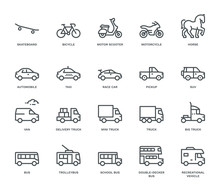 Road Transport Icons