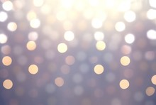 Twinkle Lights Pattern. Glitter Sequins On Lilac Defocus Background. Festive Bokeh Abstract Illustration.