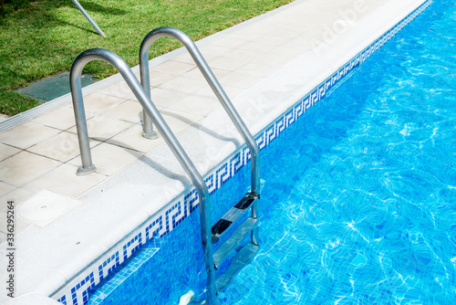 Swimming pool with stair #336295264