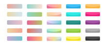Web Buttons Set  With Gradient...