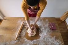 Baking Homemade Bread. High An...