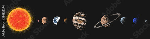 Solar system color version Canvas Print