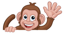 A Monkey Cartoon Character Ani...