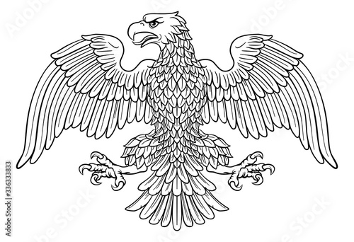 Eagle possibly German, Roman, Russian, American or Byzantine imperial heraldic s Wallpaper Mural