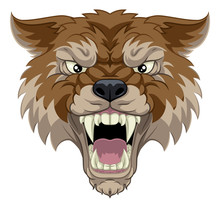 A Wolf Or Werewolf Angry Dog M...