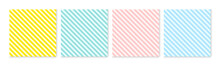 Background Pattern Seamless Diagonal Stripe Abstract Colorful Pastel Colors. Summer Background Design.