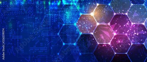 Fototapeta Abstract hexagon background