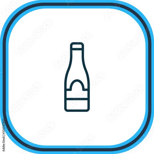 Valokuva Vector illustration of champagne icon line