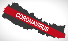 Nepal Map With Coronavirus War...