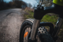 Spring Bike Ride. Sunny Spring...