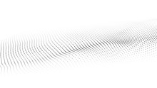 Vector Abstract White Futuristic Background. Big Data Visualization. Digital Dynamic Wave Of Particles.