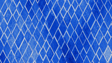 Abstract Phantom Blue Geometric Rhombus Grid Tiles Texture Background