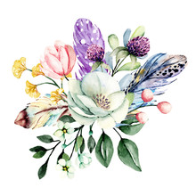 Flowers Watercolor Painting, W...
