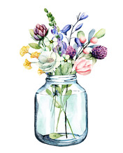 Flowers Watercolor Painting, G...