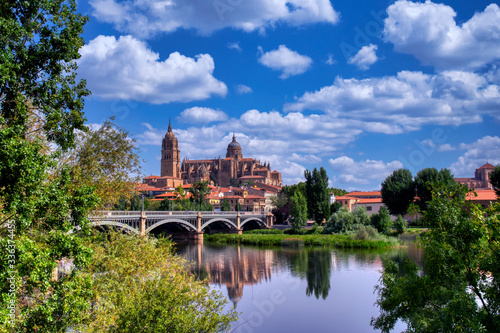 Salamanca cathedral in Castilla y Leon, Spain.