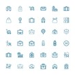 Editable 36 suitcase icons for web and mobile