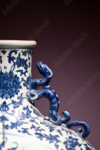 Blue and white porcelain handicraft in ancient China Canvas Print