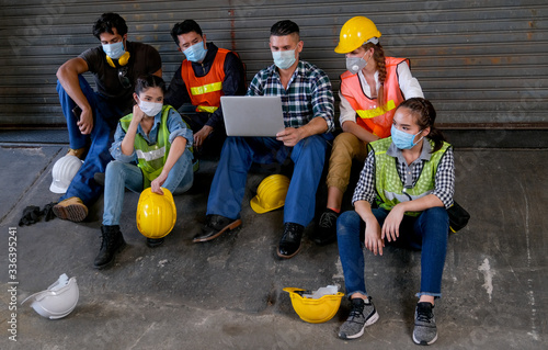 Group of people that lost job are looking for new job during the coronavirus pandemic situation Fototapeta