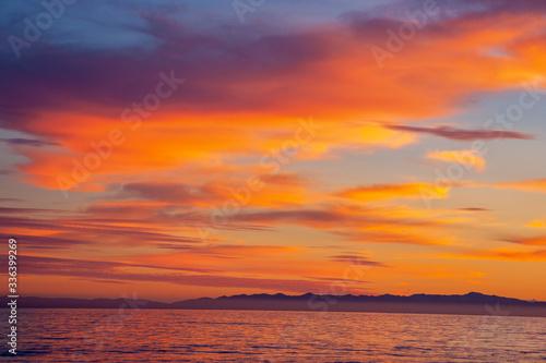 sunset at Butterfly Beach in Santa Barbara