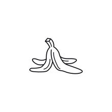 Banana Skin Vector Line Icon