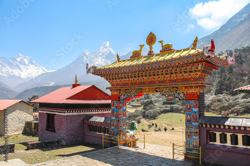 Tengboche Monastery (or Thyangboche Monastery), also known as Dawa Choling Gompa Canvas Print