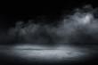 Leinwanddruck Bild - concrete floor and smoke background