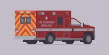 Ambulance Emergency Truck. Vec...