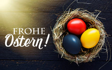Happy Easter Card In German, E...