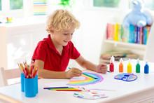 Kids Paint. Child Painting. Li...