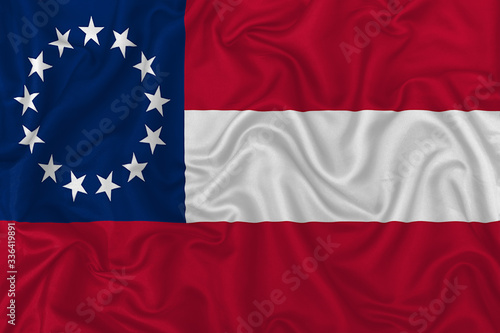 Photo Confederate States of America flag