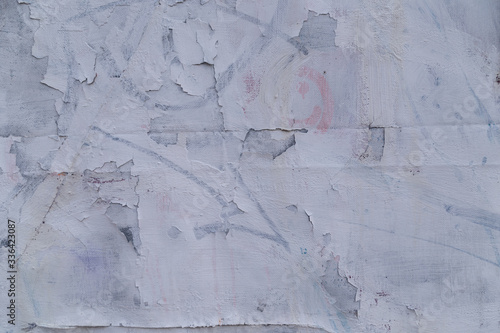 Fototapety, obrazy: old cracked white paint texture