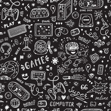 Gadget Icons Vector Seamless P...