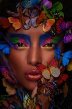 Beautiful African Girl Surroun...