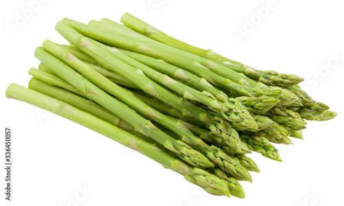 Photo asparagus isolated on white background, clipping path, full depth of field