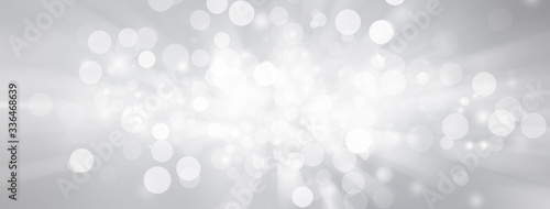 Obraz white bokeh blur background / Circle light on blue background / abstract light background - fototapety do salonu
