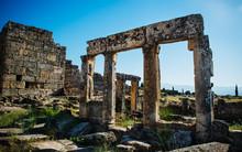 Ancient Roman Ruins In Pamukka...