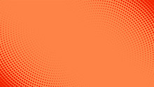 Vector Orange Abstract Background With Dots