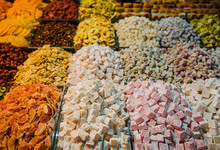 Dried Fruits And Nuts For Sale At The Spice Market, Istanbul