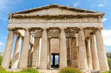 Temple Of Hephaestus In Ancient Agora, Athens, Greece.