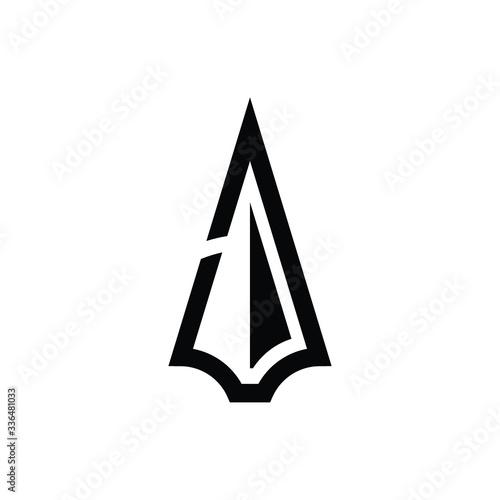 Fotografia spear logo icon vector