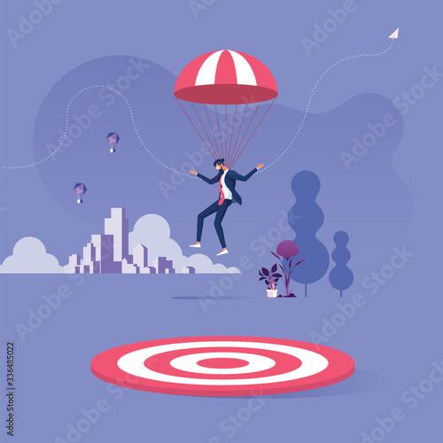 Papel de parede Missed the target-Business failed concept