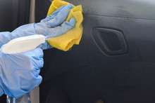 Car Disinfecting Service. Woma...