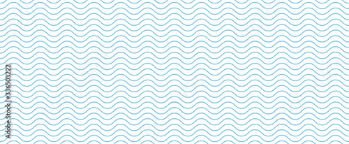 Wavy line seamless pattern background. Vector illustration Fototapete